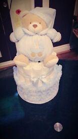 Baby nappy cake hamper