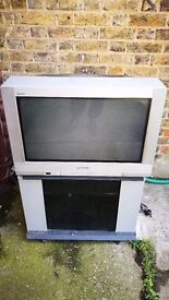 "Panasonic TX-28PK3 Widescreen 28"" CRT TV With Stand And Remote ** 100% WORKING **"