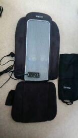 HOMEDICS seat chair massager. Deep tissue for back. Shiatsu settings. Heat and vibrate