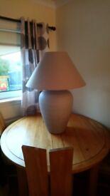 Oakland furniture stylish large table lamp ,ceramic base,fabric shade.