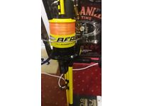 beachcaster fishing rod and matching reel in like new condition