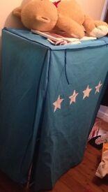 Kids blue canvas wardrobe