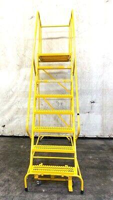 Cotterman Rolling Warehouse Ladder G12 17 8 Steps 110 X 71 X 32 Steel
