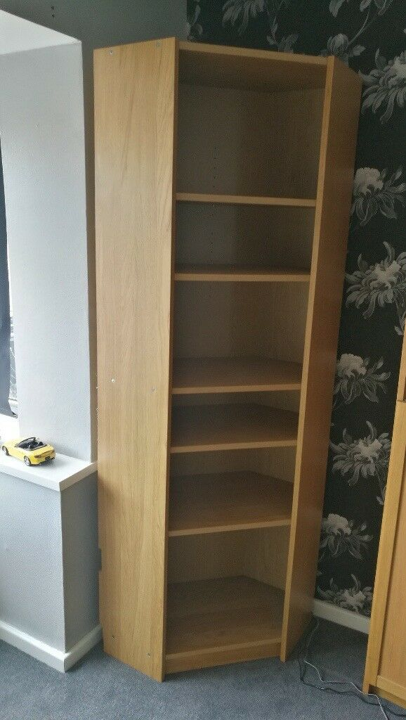 Ikea Billy Corner Bookcase In Oak Fits With Normal Also Available