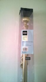 Extendable metal curtain pole with ball finials