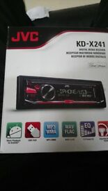 Jvc kd-x241 in car stereo with usb and aux