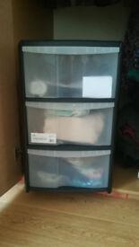 1 Wilko Storage Unit 3 Drawer Assorted