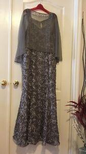 Ladies plus size lace Gown