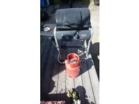 Gas barbecue ,bottle ,regulator ,some gas