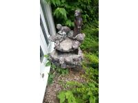 Beautiful large stone otter water feature (very heavy)