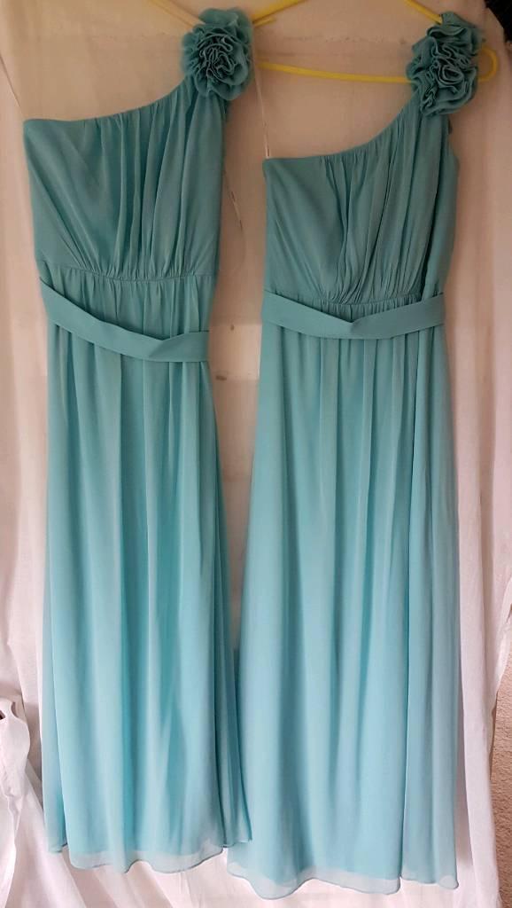 Pair of bridesmaids dresses size 6