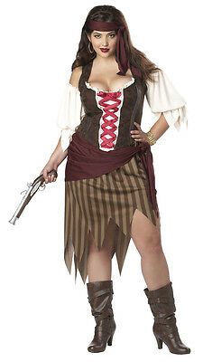 Pirate Buccaneer Beauty Adult Plus Size Women Costume (Plus Size Ladies Pirate Costume)