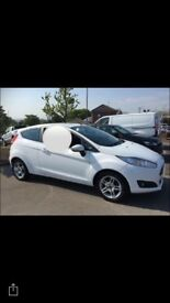 3 door white Ford Fiesta 1.25 petrol 13 plate