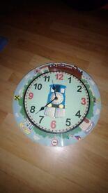 Children's train clock