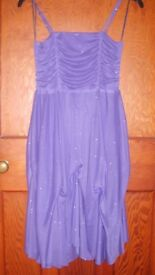 Macays Kylie Girls sparkly purple party dress