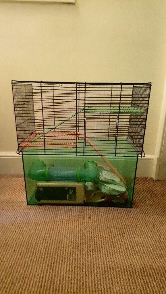 Hamster/gerbil cage plus accessories