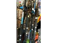 over 100 fishing rods £5 each beach boat carp coarse spin fly