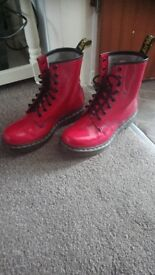 Red Dr Martens Air Wair size 5