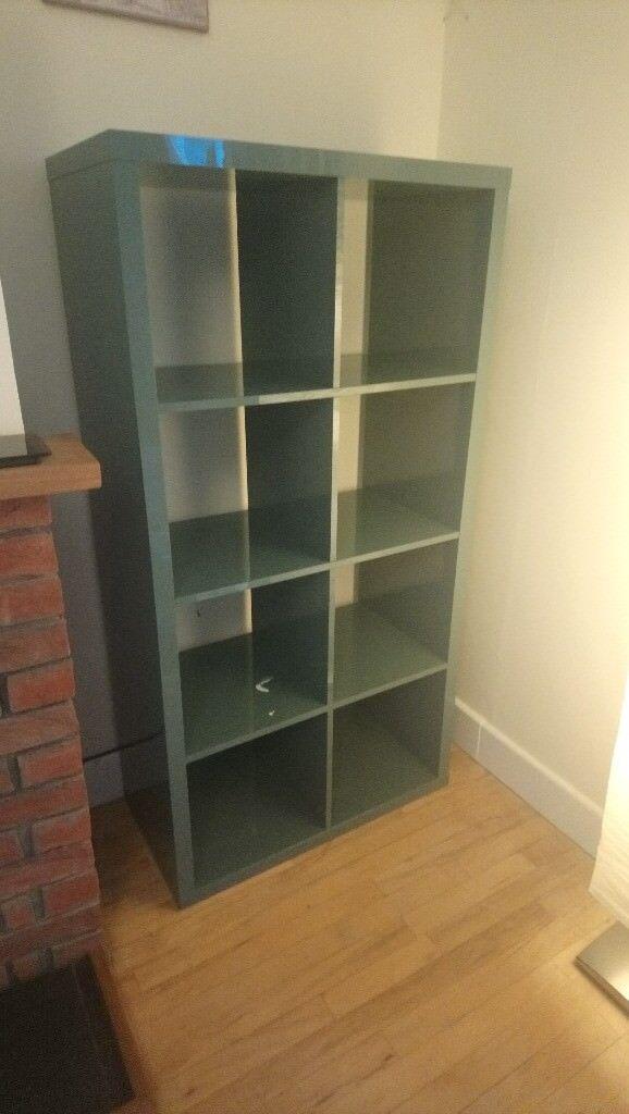 best website 133eb aa5d2 Ikea KALLAX Shelving unit (High-gloss grey-turquoise) | in Wroughton,  Wiltshire | Gumtree