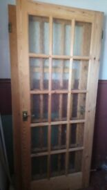 3 glazed wooden internal doors for sale