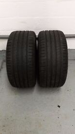 Pair of Goodyear F1 asymmetric 2 tyres - 245 40 17 with 6+mm tread