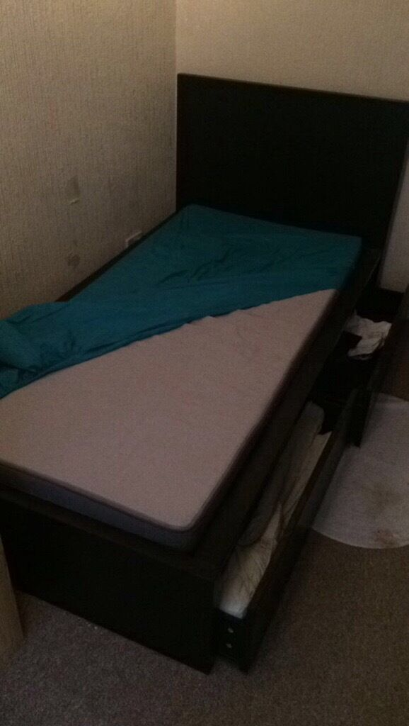 Single Bed including storage and mattress