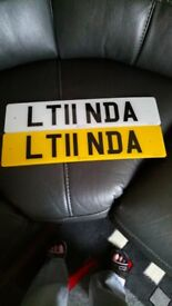 Private Number Plate LT11NDA