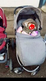 Babylo verve stroller in grey, quick sale comes with foot mug and rain cover £100