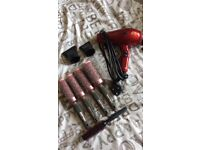 Parlux compact hairdryer and brushes