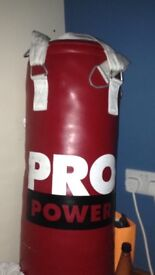 Punch bag gloves and pads