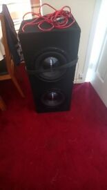 Pioneer 1600 Watt (800 per speacker) subwoofers with Amp and Wiring!!