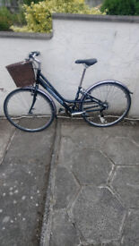 lovely ladies raleigh city bike just serviced comes with basket and lights £100