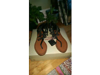 Brand New Women Zara Leather Sandals Size 3, European 36