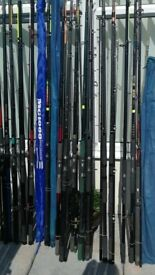 over 40 BEACHCASTER fishing rods going from £5 to £10 each