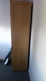 freestanding wardrobe light oak