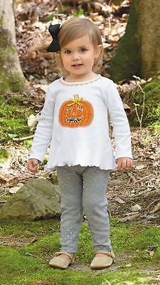 Mud Pie Girl Tunic Top Leggings Pants Set Pumpkin Applique Halloween Set 1112317](Halloween Mud Pies)