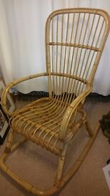 Bamboo Cane Rocking Chair
