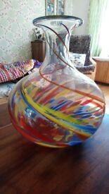 Murano glass vase. Stunning. Large approx 30cm