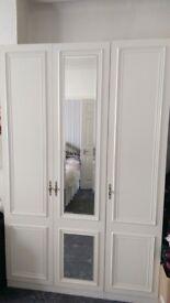 White bedroom cupboards