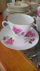 Vintage Rose Tea Set for sale in excellent condition.