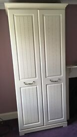 Pair of high-quality cream wardrobes