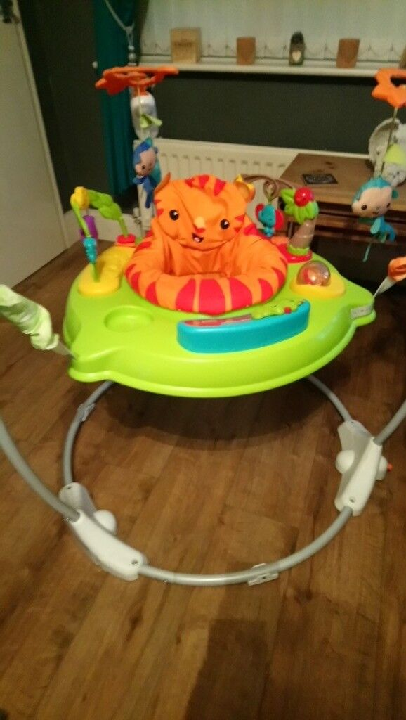 6919de9685dc Fisher-Price Jumperoo 360 Degree Baby Bouncer - Jungle - Used
