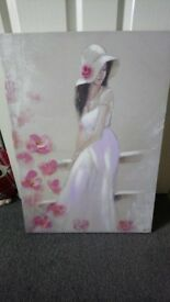 Wall canvas of a lady