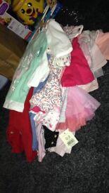 Huge bundle baby girl clothes