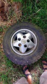 Land rover alloy wheel size 225/75/16