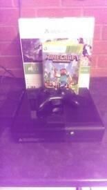 Xbox 360 with minecraft and original box
