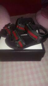 Boys authentic Gucci sandals
