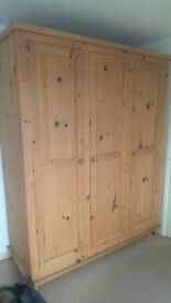 Handmade real wood wardrobe