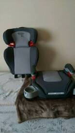 Car and booster car seat