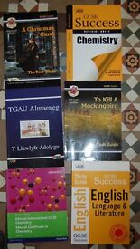 GCSE study guides English, Chemistry German (welsh medium) Free collection or will post for a fee